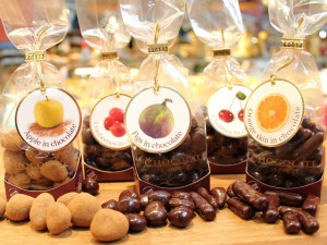 Chokladdoppat frukter